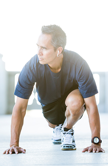 Image of a man stretching for exercise